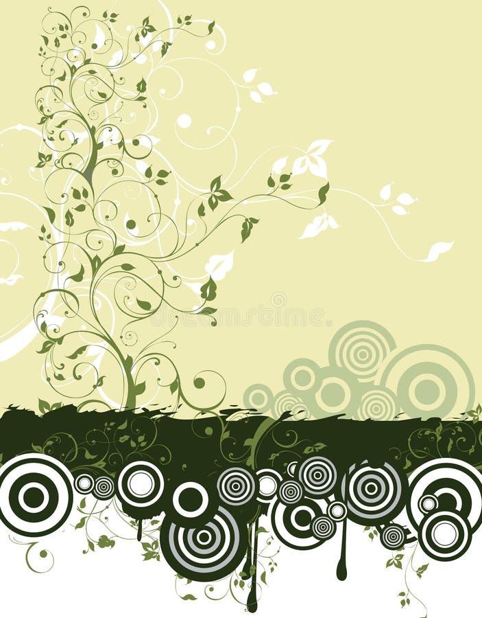 Ein flayer mit ökologischem symbolics lizenzfreie abbildung