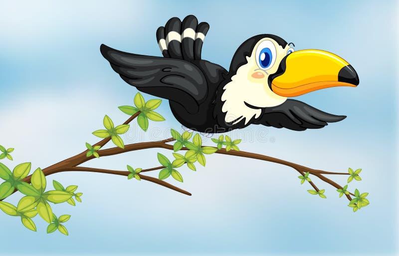 Ein Fliegenvogel stock abbildung