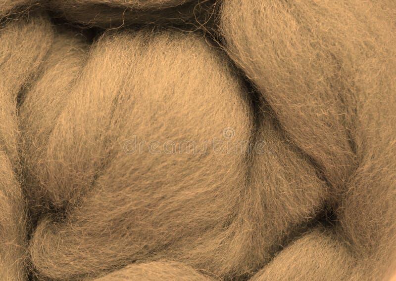 Ein Foto einer Nahaufnahme der Wolle stockfotos