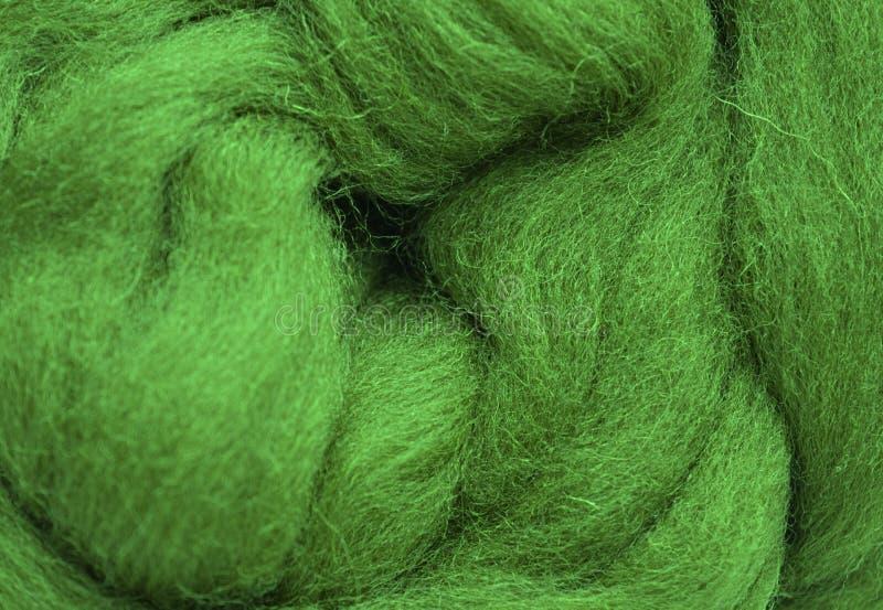 Ein Foto einer Nahaufnahme der Wolle stockfoto