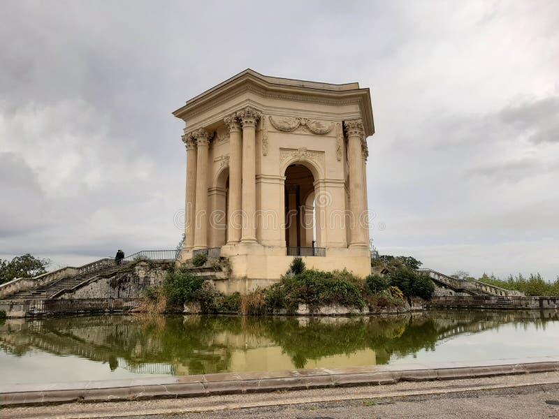 Ein Foto eines Aussichtspunktes in Montpellier Frankreich lizenzfreie stockbilder