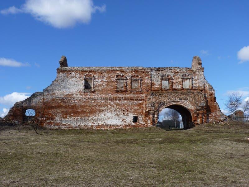 Ein Fragment der Festungswand lizenzfreies stockbild