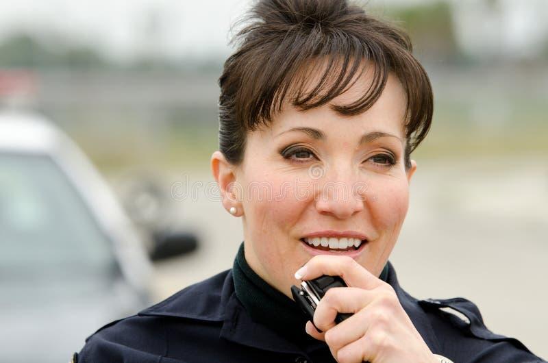 Lächelnder Offizier Stockfotos