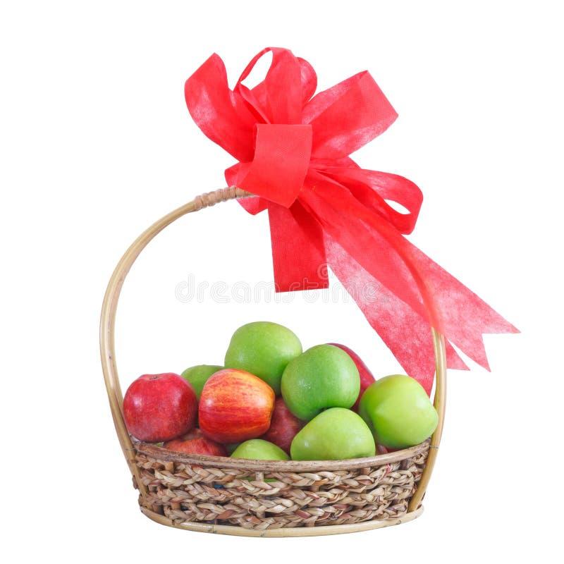 Ein Fruchtgeschenkkorb lizenzfreie stockfotos