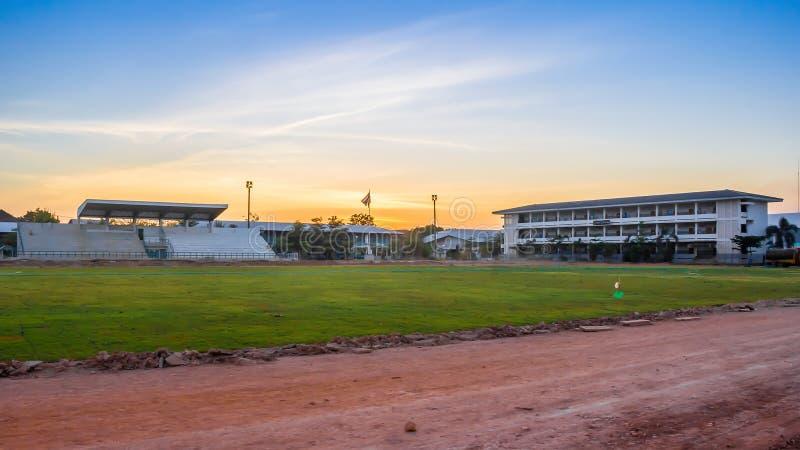 Ein Fußballplatz Davao Auf Wiedersehen lizenzfreie stockbilder