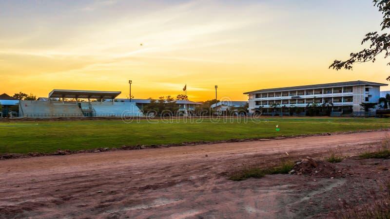 Ein Fußballplatz Davao Auf Wiedersehen lizenzfreie stockfotografie