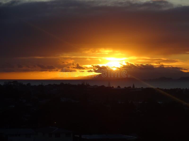 Ein ganz spezieller Sonnenaufgang lizenzfreie stockbilder
