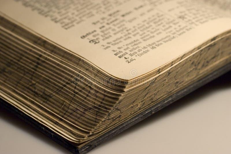 Ein geöffnetes Buch stockfotos