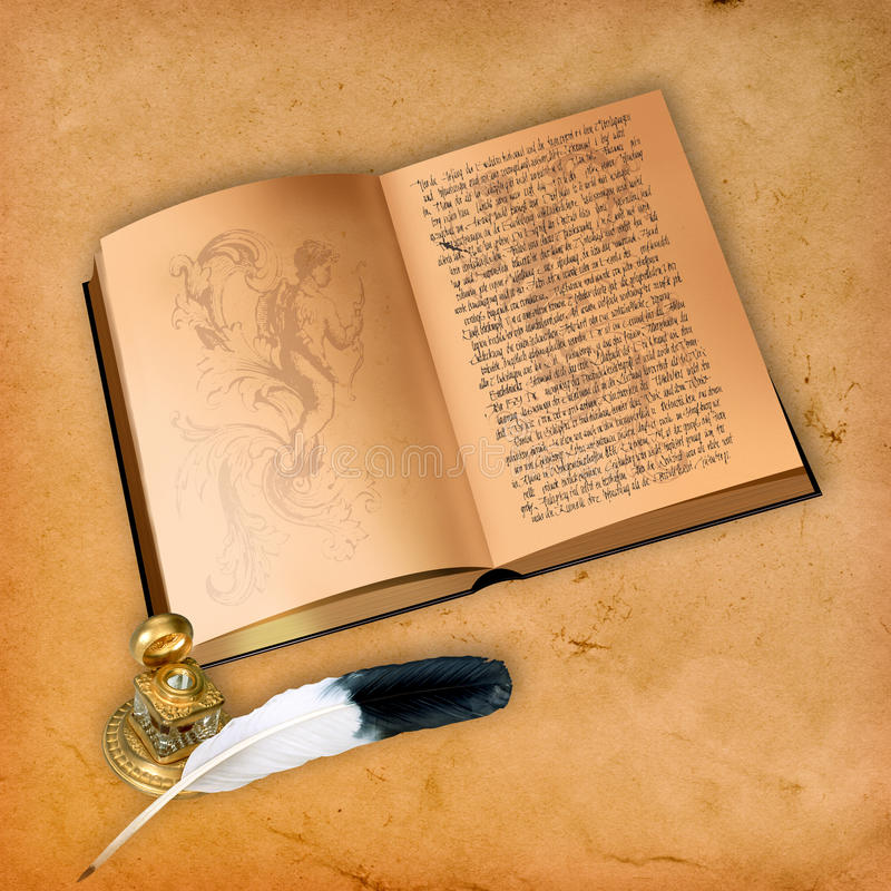 Ein geöffnetes Buch. stockbilder
