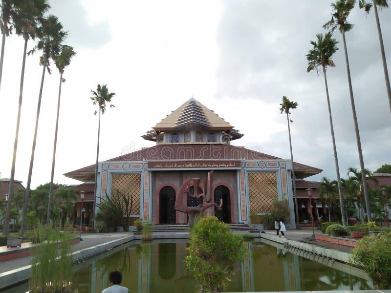 Ein Gebäude, in dem Anbetung von den Moslems gehalten wird lizenzfreies stockfoto
