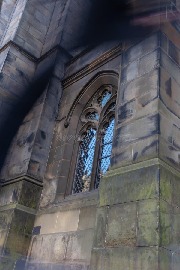 Ein Geist infron einer Kirche stockfoto