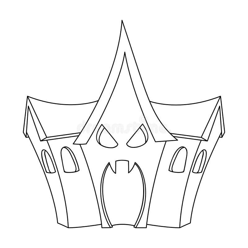 Ein Geisterhaus, ein Raum von Furcht in einem Vergnügungspark Anziehungskraft für das furchtlose Einzelne Ikone des Vergnügungspa stock abbildung