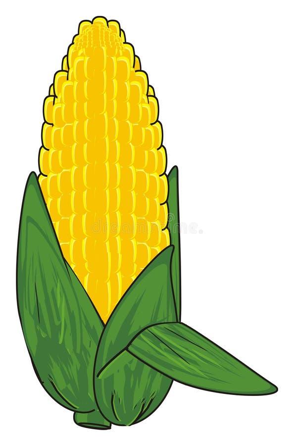 Download Ein gelber Mais stock abbildung. Illustration von gemüse - 90225724