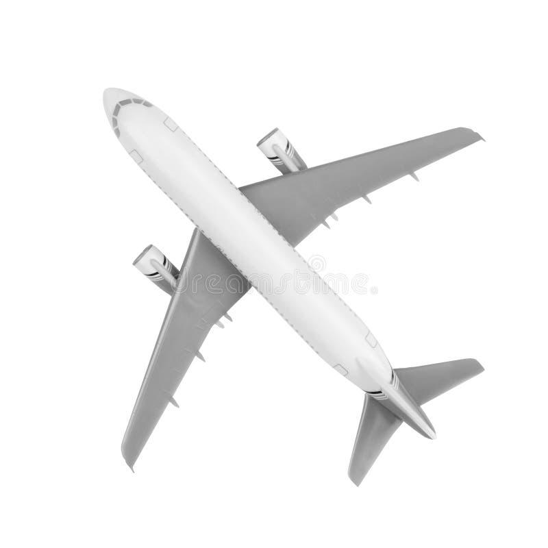 Ein generisches schauendes modernes Jet-Flugzeug lokalisiert auf Weiß lizenzfreies stockfoto