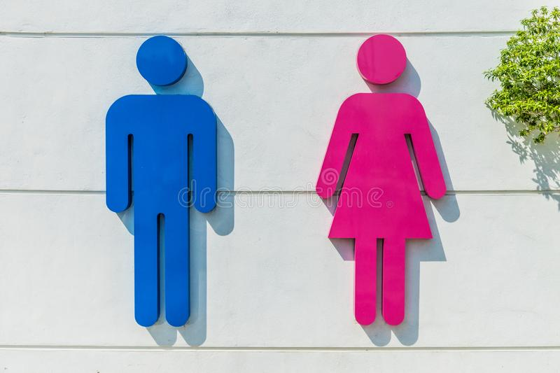 Ein generisches Toilettenzeichen lizenzfreie stockbilder