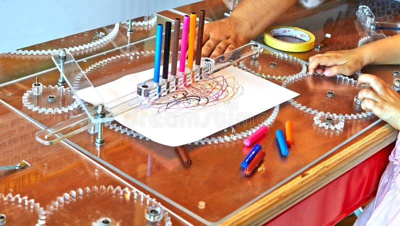 Ein Gerät für das Zeichnen einer Vielzahl der Zahlen Amsterdam lizenzfreies stockbild