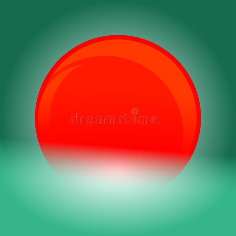 Ein glänzender roter Ball stockbilder