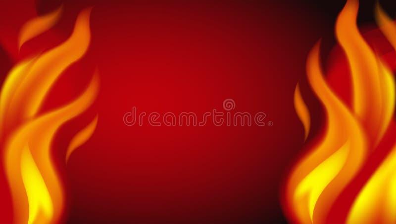 Ein glühender Feuer-Hintergrund lizenzfreie abbildung