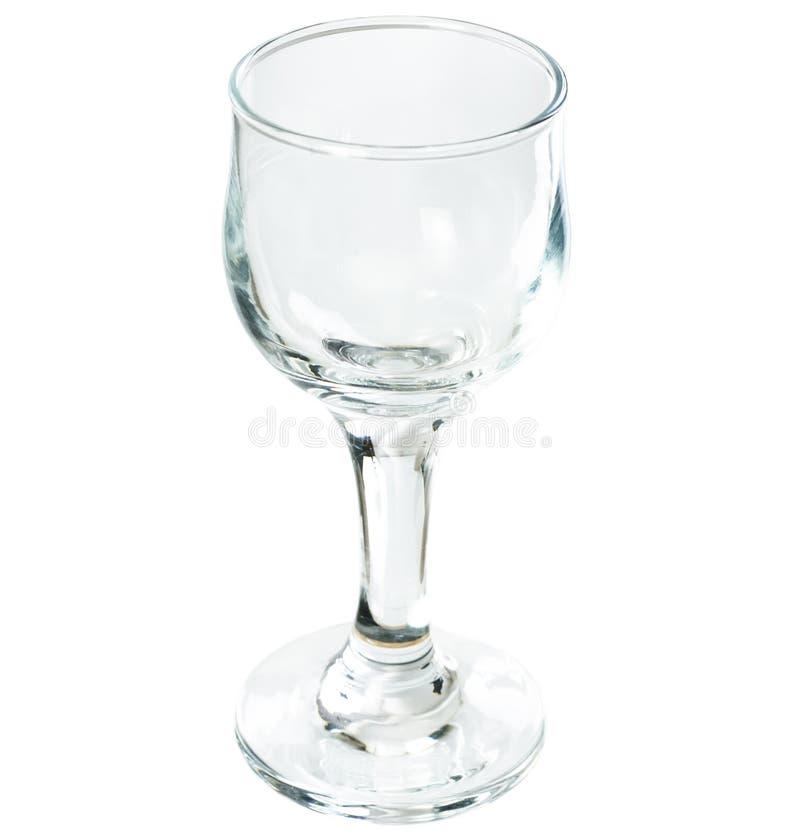 Ein Glas auf einem langen dünnen Fahrwerkbein lizenzfreie stockfotografie