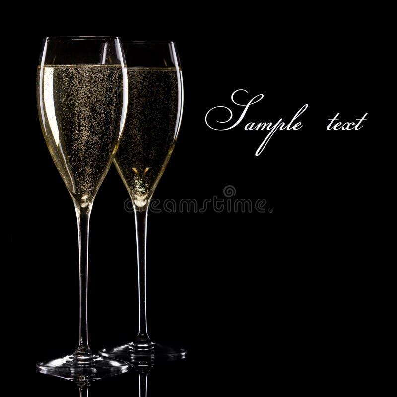 Ein Glas Champagner lizenzfreies stockbild