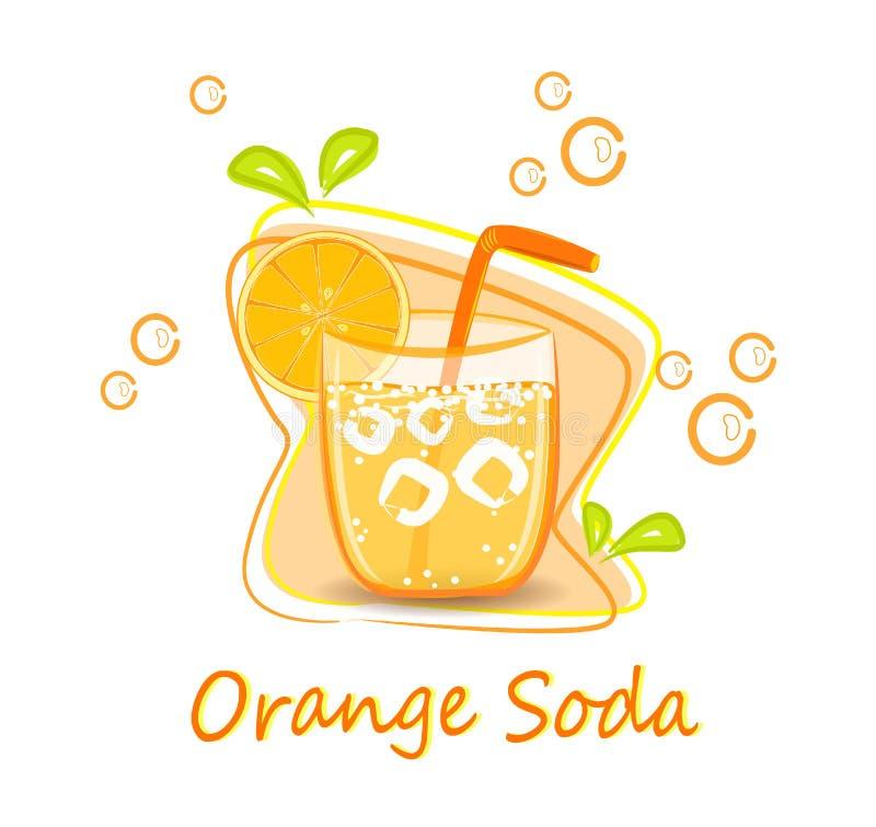 Ein Glas frisches orange Soda lizenzfreie abbildung