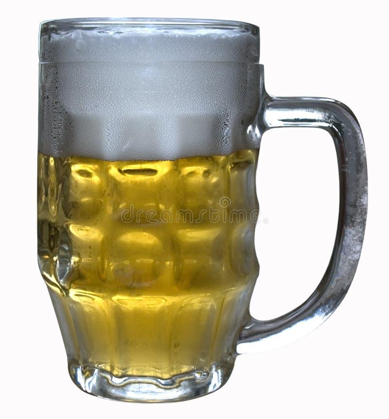 Ein Glas helles Bier stockfoto