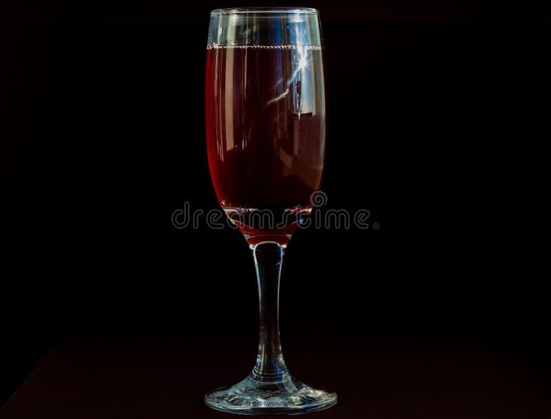 Ein Glas Rotwein stockbild