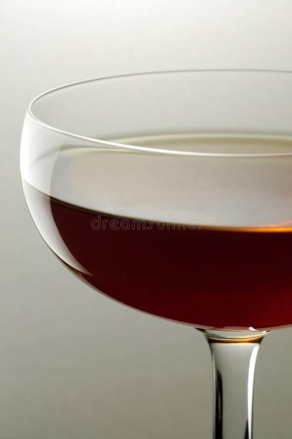 Ein Glas Rotwein oben geschlossen lizenzfreies stockbild