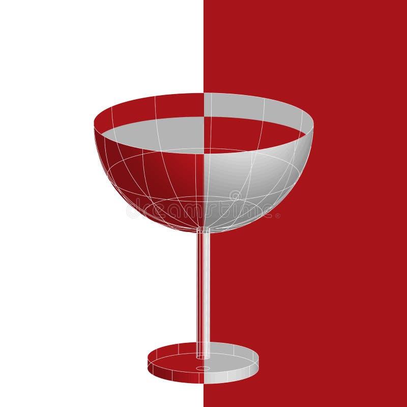 Ein Glas tropischen Martini-Cocktails des roten Likörs lizenzfreie abbildung
