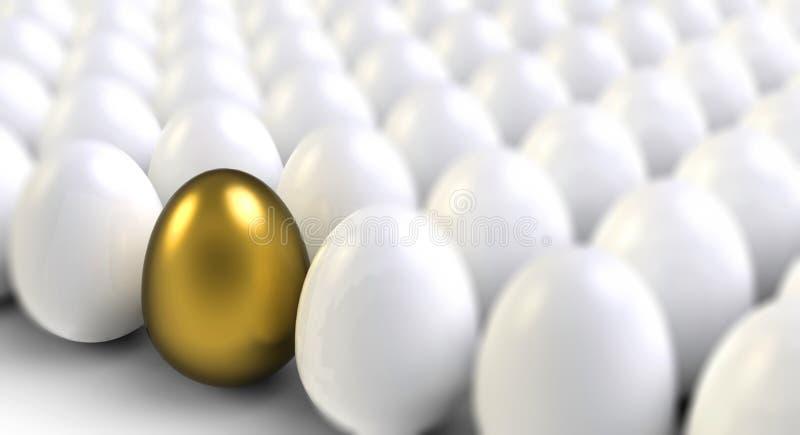 Goldenes Ei stock abbildung