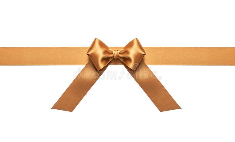 Ein goldenes Band mit weißem Bogen stockfotografie