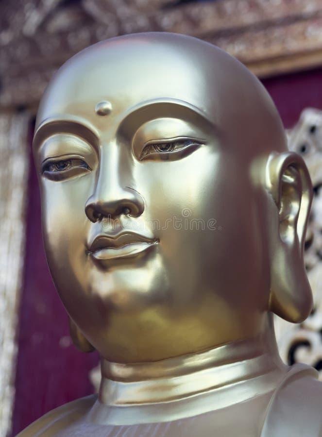 Ein goldenes Budai, Wat Phra That Doi Kham-Tempel, Chiang Mai, Thailand stockfoto
