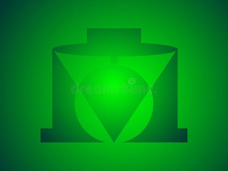 Ein grünes Logo lizenzfreies stockfoto