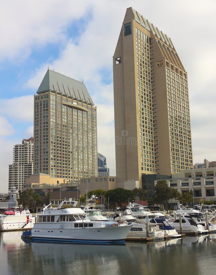 Ein großartiger Schuss Hyatt Manchester, San Diego lizenzfreie stockfotos