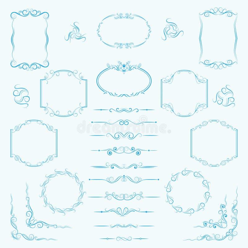 Ein Großer Satz Rahmen, Grenzen, Teiler Für Dekorativen Gebrauch ...