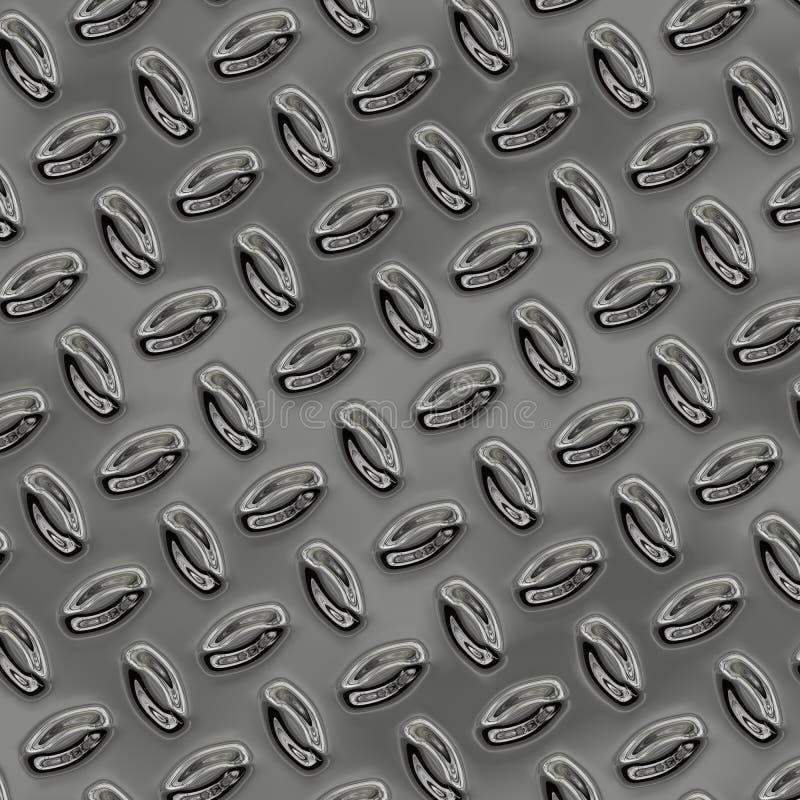 Ein großes Blatt der netten glänzenden Chromschrittplatte stock abbildung