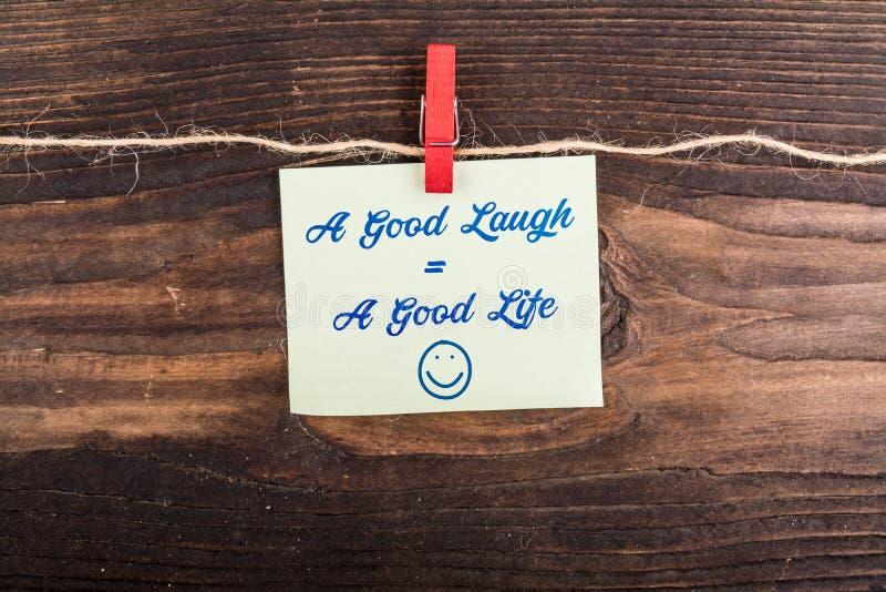 Ein gutes Lachen-Gleichgestelltes ein angenehmes Leben stockfotografie