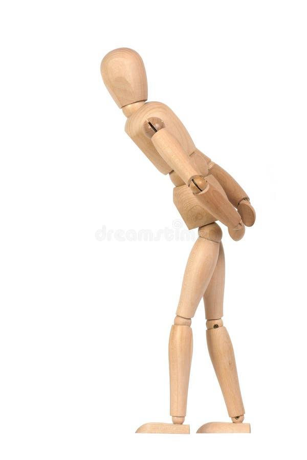 Ein hölzernes Mannequin gestikulieren lizenzfreie stockfotografie