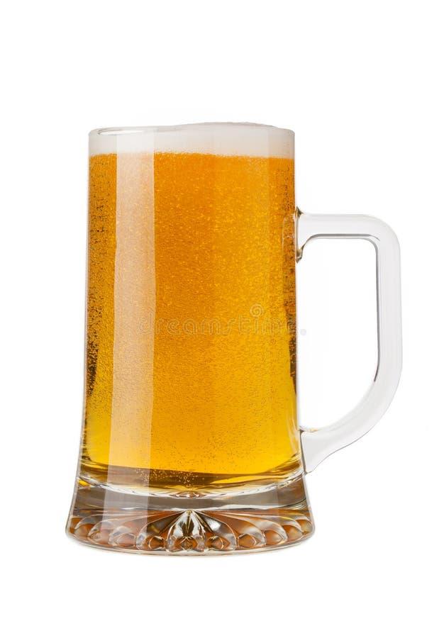 Ein halbes Liter Bier stockfotografie