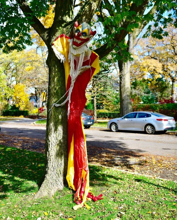 Ein Halloween-Clown stockbilder