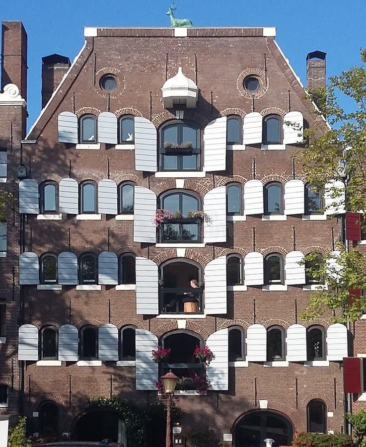 Ein Haus in Amsterdam stockbild