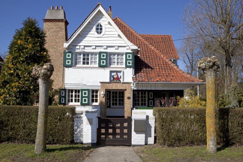 Ein Haus in Knokke, Belgien lizenzfreies stockfoto
