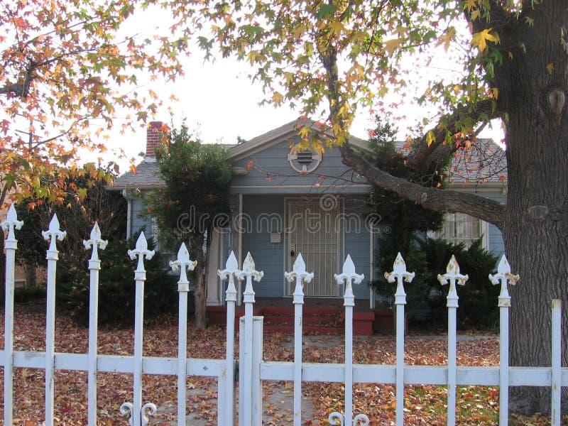 Ein Haus und ein schöner Baum lizenzfreie stockfotografie