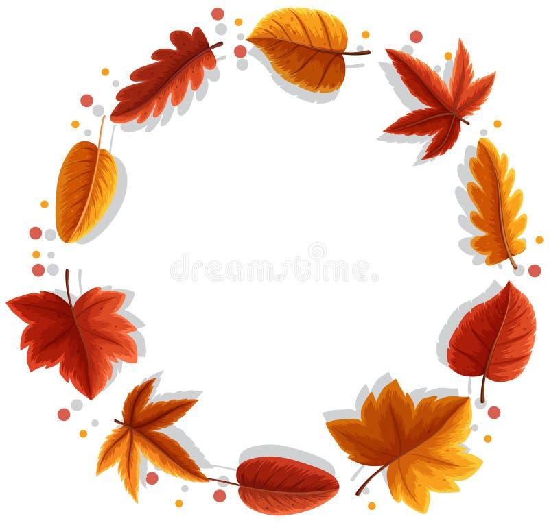 Ein Herbstblattrahmen vektor abbildung