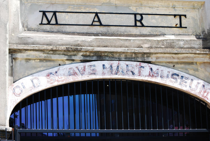 Ein historischer Sklave Mart in Charleston, South Carolina stockbild