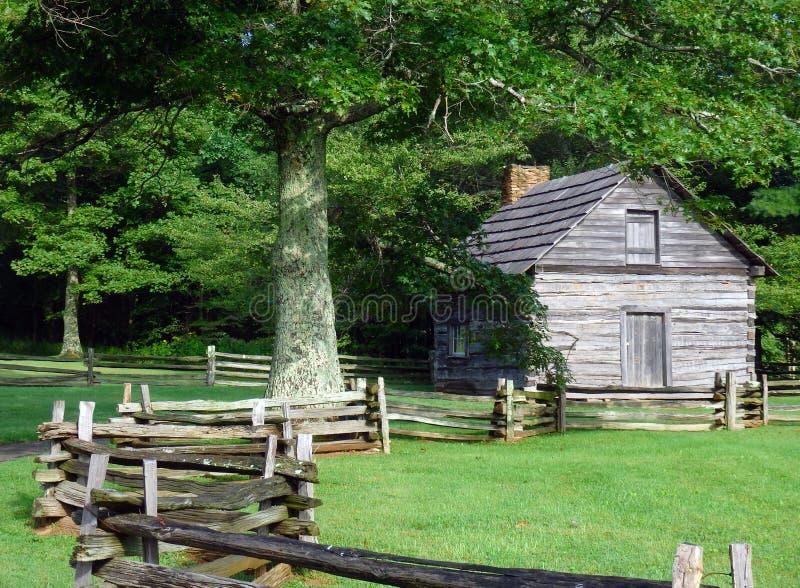 Ein historisches Bauernhaus in Nord-Carolina lizenzfreie stockfotografie