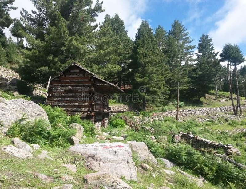 Ein Holzhaus stockfotos
