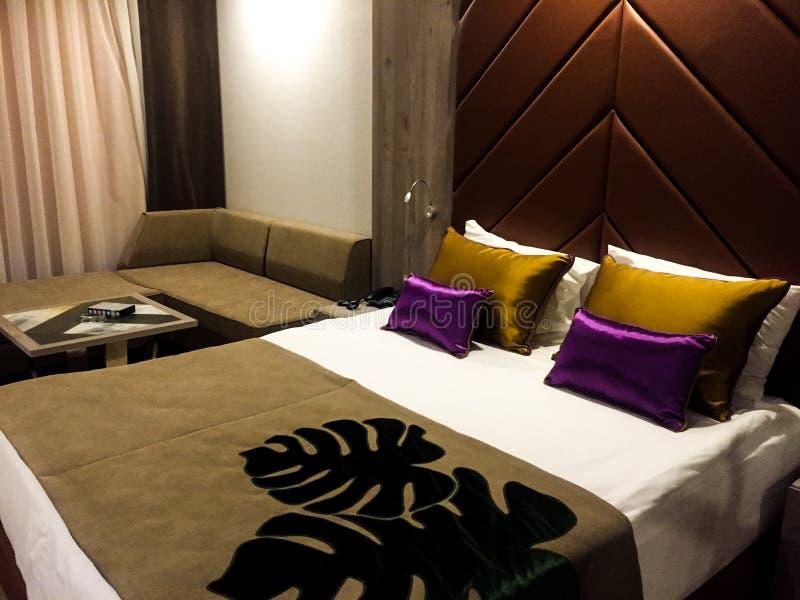 Ein Hotelzimmer stockfoto