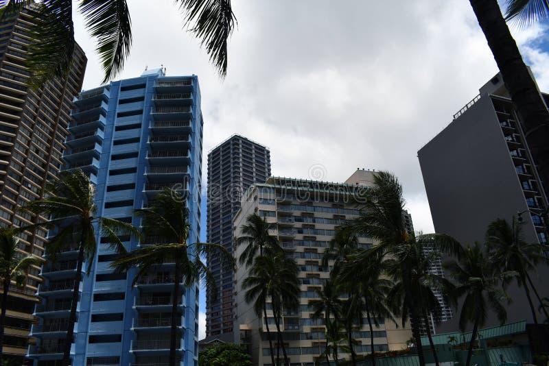 Ein Iconic Honolulu Skyline lizenzfreie stockbilder