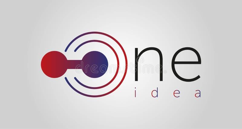 Ein Ideenlogo, eine Ikone, eine Linie Vektorillustration lokalisiert auf weißem Hintergrund lizenzfreie abbildung